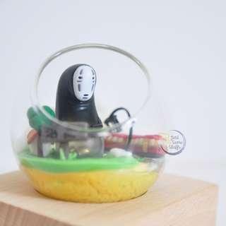 玻璃球禮物設計 吉卜力 千與千尋 無臉男 生日禮物 擺設