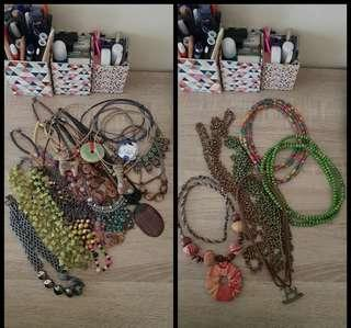 Color Box Necklace 22 items Take All