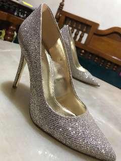 Michael Kors Gold Heels Sepatu Pesta Authentic (Original)