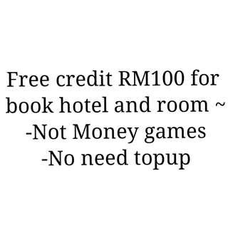Free credit for booking hotel and room Malaysia