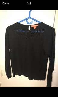 Joe fresh embroidered sweater size xs