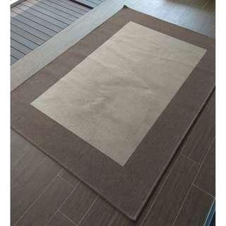 Inexpensive beige rug