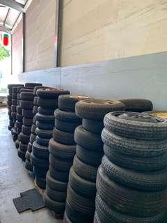 Spare tyre with rim for sale-Various model and sizes