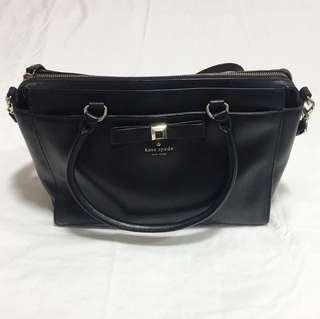 Authentic Katespade Holly Street Jeanne Black Leather Bag (Preloved)