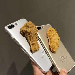 [PO] 3D fried chicken transparent iphone case