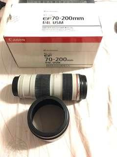🚚 Canon 70-200mm f4 no is have box