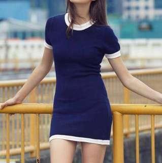 TCL Lauren Knit Blue Dress