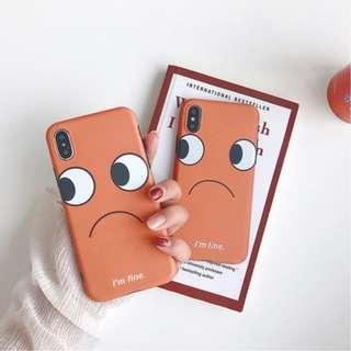 [PO] 'i'm fine' orange iphone case