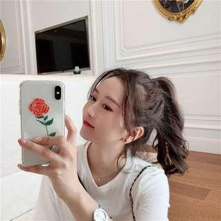 [PO] transparent rose iphone case