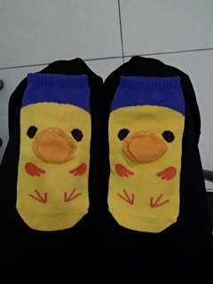 🚚 黃色小鴨短襪