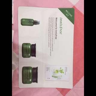 Innisfree Green Tea welcome kit