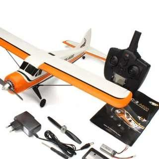 4 Channel Beaver RC Plane- XK A600- used but still flies well. With stabilization technology. Can do Loops.