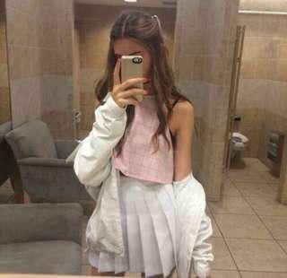 🕊White Tennis Skirt
