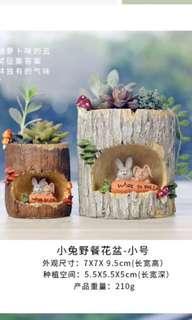 Easter Bunny pot 小兔花盆
