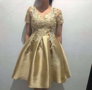 Dress Ball Gown Gold