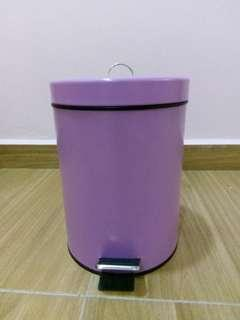 Purple Small Bathroom Kitchen Step Pedal Trash Bin Can
