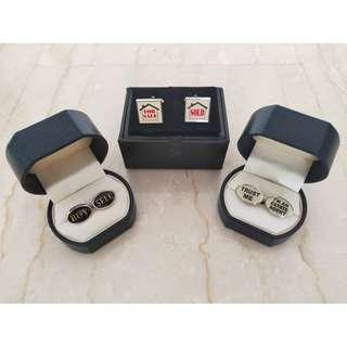 3 Pairs Real Estate Property Cuff Links