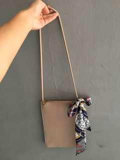 Sling Bag-miniso cream/nude