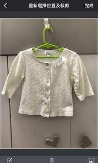 女童米色刺繍中就外套
