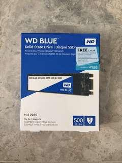 BNIB WD Blue M.2 2280 500GB SSD