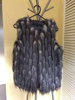 French Connection high quality fluffy fur Vest