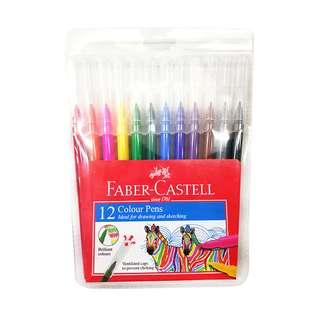 [2 SET] Faber-Castell 12 Colour Pens for Drawing and Sketching