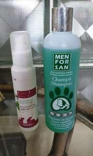 Dog and cat shampoo, Ear cleaner solution from France and Spain