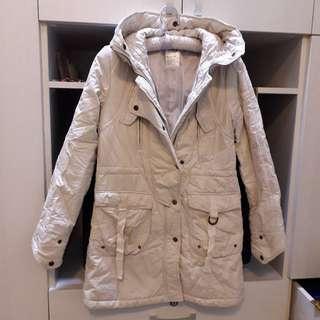 🚚 韓長版灰白外套