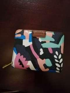 Payday Sale!!! Fossil Emma RFID Wallet PVC Leather - Small