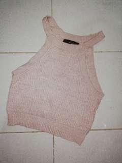 F21 knit halter crop top