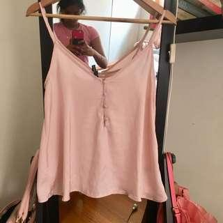 Light Pink Satin Cami