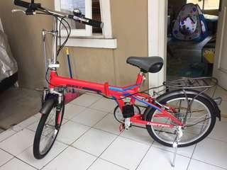 Sepeda Lipat United Quest C1 02 Red Folding Bike 20 inch