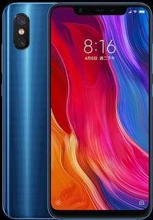 小米 8 (6GB+64GB)  藍色 全新