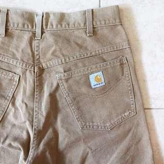 Carhartt Weathered Duck 5 Pocket Straight Leg Brown Pants