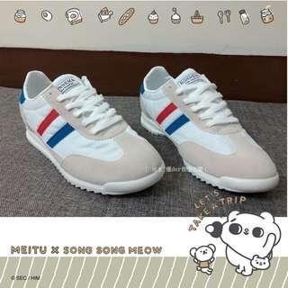 🚚 韓國正韓藍紅條紋鞋