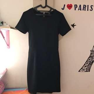 Forever 21 Black Mididress