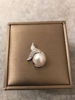 S925 Sterling Silver Mermaid Pearl Ring