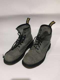 DrMartens 8 Hole Grey suede Leather Shoes @Eu 42