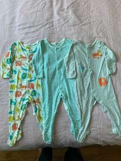 M&S Baby Sleepsuits Bodysuits Onesies Set