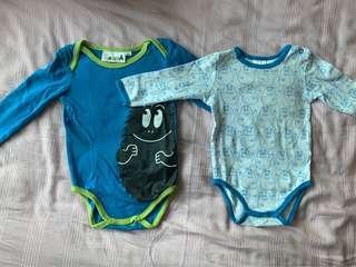 🚚 Barbapapa Baby Sleepsuits Bodysuits