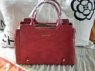🚚 Authentic Bold Red Sembonia Handbag