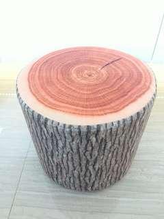 棉質仿木椅