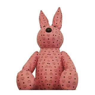 MCM Pink Monogram Design Large 80cm Leather Rabbit