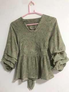 Blouse soft green