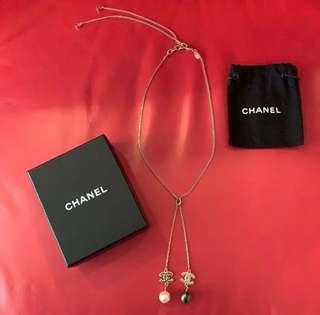 Authentic preloved Chanel Dangling Pearl Necklace