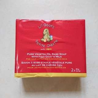 加拿大Li'l Goat's純植物油鮮羊奶嬰兒/兒童潤膚皂 ×2