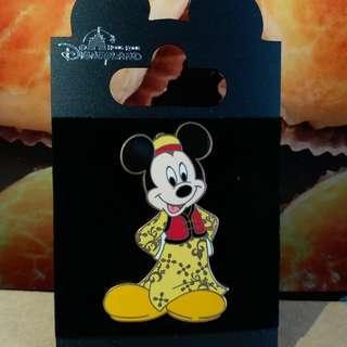 迪士尼 米奇 襟章 Disney Micky Pin