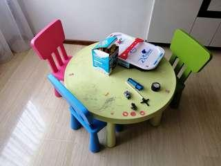 FOC - Kids table and chair set