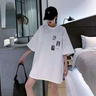 🔥(Black/White) Classic Fashion Oversized Tee