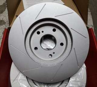 Honda Civic FC 1.5T front slottd rotor